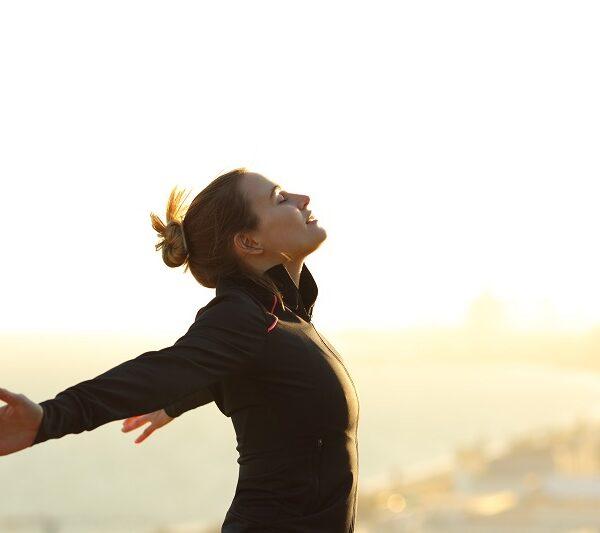 Runner Feeling Freedom
