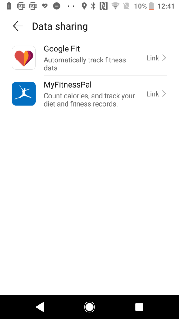 Huawei Health App - Click Google Fit to link with Google Fit
