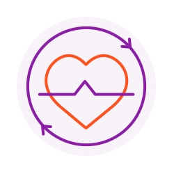 Heart icon to represent GoVida the employee wellbeing platform supporting the physical and mental health needs of a diverse workforce
